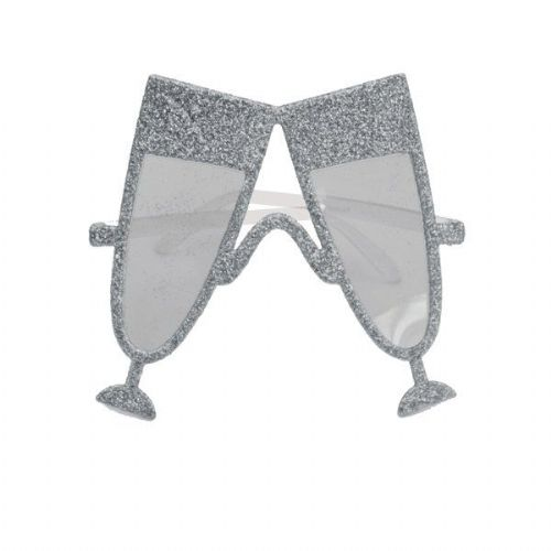Party Glasses Glass of Champagne Silver